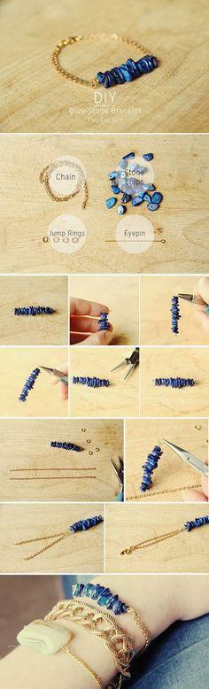 DIY mineral bracelet