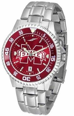 Mississippi State Bulldogs Men's Stainless Steel Dress Watch SunTime. $86.95. AnoChrome Dial Enhances Team Logo And Overall Look. Stainless Steel. Officially Licensed Mississippi State Bulldogs Men's Stainless Steel Dress Watch. Men. Links Make Watch Adjustable. Save 21% Off!