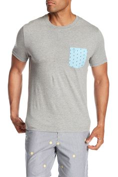243b3d58908c5 Original Penguin Crew Neck Flamingo Pocket Tee - RAIN HEATHER  #nordstrom_rack Flamingos, Men's Clothing