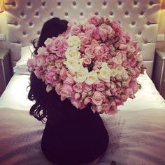 You know you have a keeper when he gives you flowers. lots of them…...Our Motto: live luxury. be luxury. today. everyday… #truelove  #inspiration…….Relationship Goals !!