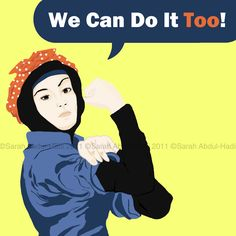 "we can do it ""in hijab or no hijab"", we can still do it!!"
