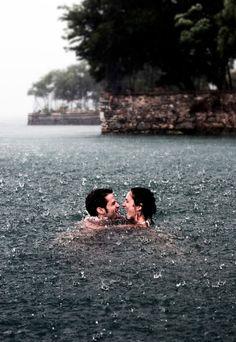romance in the rain :)