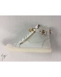 Giuseppe Zanotti Hightops Gold, Heren, Wit bij http://www.unicomoda.nl/