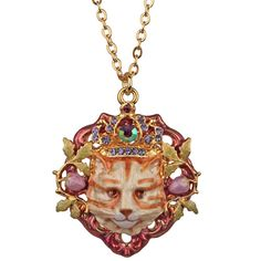 Royal Ginger Tom Cat Necklace (Goldtone): Kirks Folly Online Web Store