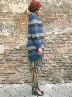 Iconic stripes #driesvannoten #aw13 #fw13 #fashion #designer #collection #blouse #shirt #pantskirts #grey #wool #beanie #stripes #womenswear #womenstyle #outfit #lookbook #ootd #stye #fashionoutfit #wishlist #dolcitrame #shop #shopping #boutique