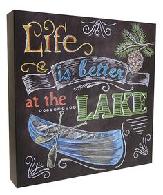 Look at this 'Life Is Better at the Lake' Box Sign on #zulily today!