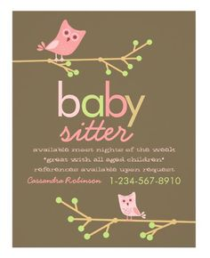Download this Babysitter Business Card Template and other free