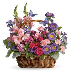 Country Basket of  Flowers