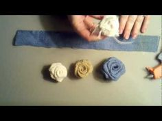 Tutorial on how to make burlap flowers