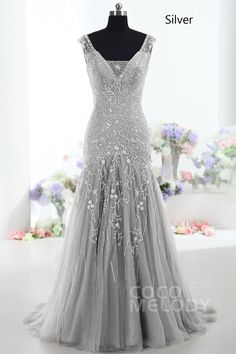 Cheap tulle evening dress, Buy Quality evening dresses long directly from China evening dress Suppliers: V-neck Gray Tulle Evening Dress Long 2018 Sheer Sleeveless Mermaid Prom Dresses Formal Evening Party Gowns Women Pageant Dress Vestidos Mob, Vestidos Vintage, Vintage Dresses, Mermaid Prom Dresses, Prom Party Dresses, Party Gowns, Evening Dresses, Occasion Dresses, Dress Party