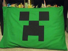Minecraft inspired Creeper Pillowcase fits standard size pillow 20x26 (51x66cm) teen Valentines Day gift on Etsy, $13.00