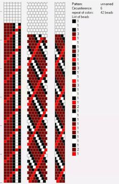 6 around tubular bead crochet rope pattern. Bead Crochet Patterns, Bead Crochet Rope, Beading Patterns, Beaded Crochet, Crochet Beaded Bracelets, Beaded Necklace Patterns, Bead Loom Designs, Tapestry Crochet, Bead Jewellery