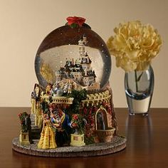 Belle and Beast Castle Snowglobe