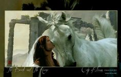 The bride and the white horse