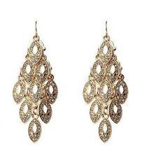 Gold Tone Crystal Chandelier Earrings from Luxe Fashion Jewellery.