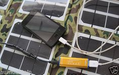 18W 18V Solar Panel Charger Portable Folding Outdoor Survival Camping Nomad   eBay