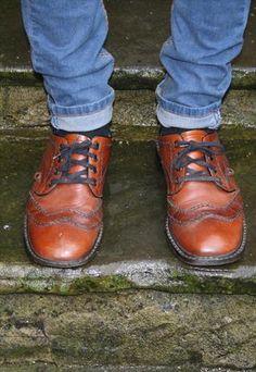 Vintage Brown Leather Brogues  £34.99