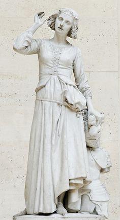 Juana de Arco escuchando sus voces, François Rude, 1842.