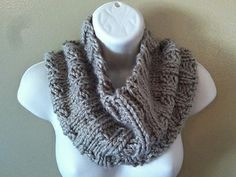Knitting Patterns Galore - Thick and Quick Ribbed Cowl
