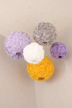 pretty lilac, grey & yellow nursery! Doing this in navy, gotta make these!