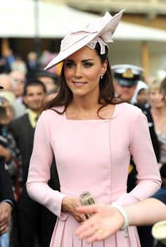Kate Middleton in a pink Alexander McQueen dress <3