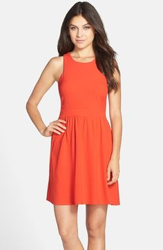 Charles+Henry+Crepe+Fit+&+Flare+Dress+available+at+#Nordstrom