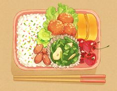 Aesthetic Food, Aesthetic Anime, Foods For Abs, Anime Bento, Real Food Recipes, Yummy Food, Cute Food Art, Cute Food Drawings, Pinterest Instagram
