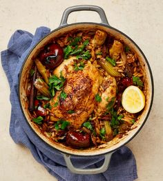 Yotam Ottolenghi's one-pot recipes One-pot chicken with orzo, porcini and cinnamon Yotam Ottolenghi, Ottolenghi Recipes, Mushroom Stew, One Pot Chicken, Cuban Chicken, Chicken Orzo, One Pot Dinners, Cinnamon Recipes, Cooking Recipes