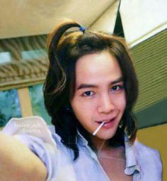 Jang Geun Suk ponytail