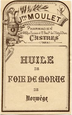 Vintage French Pharmacy Label! - The Graphics Fairy