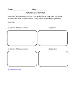 8th Grade Common Core | Reading Literature Worksheets