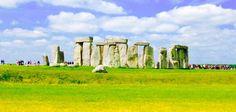 England Ireland Postcard Travel Four-Postcard Set St. Paul's Stonehenge Gardens  www.sweetfrivolity.com
