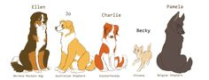 Supernatural Dogs | SPN dogs-Girls by FourDirtyPaws on DeviantArt