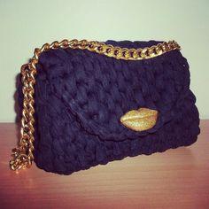 Crochet bag black IRIDESIGNS