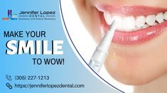 Are you suffering from tooth discoloration? Jennifer Lopez Dental offers advanced dental bleaching treatment to whiten your yellowish, stained or discolored teeth for a bright and confident smile. Schedule your appointment today @ Dentistry For Kids, Family Dentistry, Dental Health, Dental Care, Family Chiropractic, Emergency Dentist, Dental Cosmetics, Pediatric Dentist