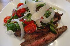 The aged-oak flavor of balsamic vinegar matches ideally with the smokey flavor of grilled meat in Balsamic-Grilled Flank Steak with Arugula and Cherry Tomatoes.
