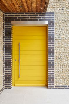 How to choose a new front doorcontemporary yellow front door from urban frontBorano Modern Doors - contemporary - front doors - miami - by BoranoBorano Modern Doors - contemporary - front doors - miami - Yellow Front Doors, Front Door Paint Colors, Painted Front Doors, Front Door Steps, Front Door Entrance, Entry Doors, Garage Door Design, Front Door Design, Garage Doors