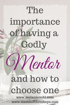 The Importance of having a Godly Mentor and How to Choose one - Mama of Three Boys