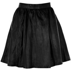 Warehouse Leather Full Skirt. ($130) ❤ liked on Polyvore