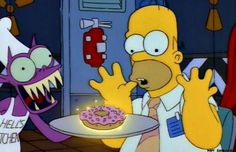 Homer makes a deal with the devil for a donut