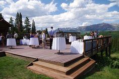 #destinationwedding #mountainwedding #crestedbutte #summer at Uley's Cabin mid-mountain at Crested Butte Mountain Resort