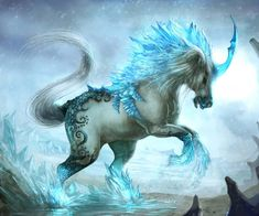El unicornio es una criatura mitológica representada habitualmente como un caballo blanco con patas de antílope, barba de chivo y un cuerno en la frente. En las representaciones modernas, sin embargo, es idéntico a un caballo, sólo diferenciándose en la existencia del cuerno mencionado.