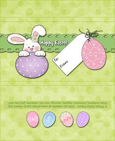 This Cute-As-A-Button Bunny FREE Printable Easter Candy Bar Wrapper is designed to fit those large 5 oz. Hershey bars and would make a sweet holiday gift or addition to your Easter Baskets! More printables at Chocolate Bar Wrappers, Candy Bar Wrappers, Sweet Wrappers, Easter Candy, Hoppy Easter, Easter Templates, Candy Crafts, Paper Crafts, Party