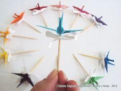 Topper de tsuru || modelo P - Sakura Origami & Acessórios #FestaComOrigami