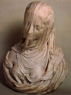 Antonio Corradini, Bust of a veiled woman. Figurative sculpture, the human form