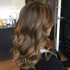 """Tiffany (@hairluvbytiffany) on Instagram: """"One of my new color creations using @redken 9p for the toner! Balayage brunette wavy lob"""