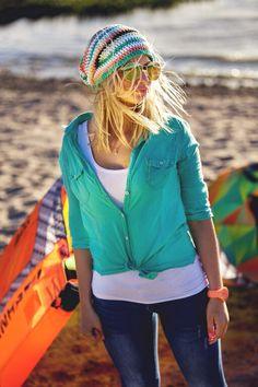 Handmade cotton surf beanie #Zizterz #KnitZizterz #Surf #Beanie #Surfing #KiteSurf #WindSurf