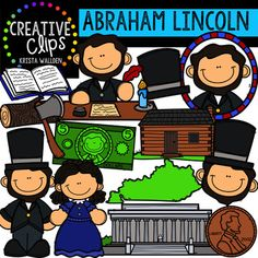 Abraham Lincoln  Clipart {Creative Clips Clipart} This 32-image set is lots of images of Abraham Lincoln and artifacts from his life!