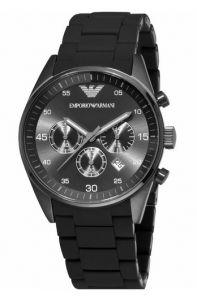 fd0653f4933cd Emporio Armani Men s Sport Chronograph Silicone Accent Black Dial Watch.  susan lee · Relogios Masculino