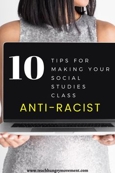 Inspired to make your curriculum anti-racist? Here are 10 easy tips to make your social studies, us history, and civics/government lesson plans anti-racist.   #ushistory #civics #socialstudies #antiracist